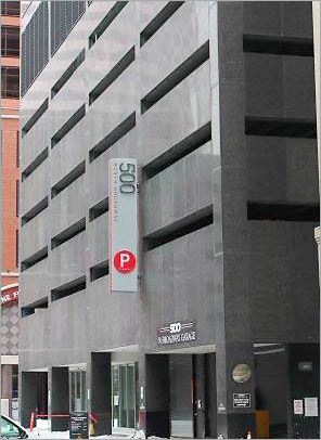 Photo showing self parking garage for USA&M